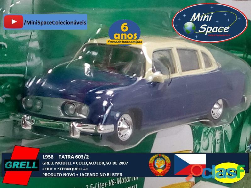 Grell Modell 1956 Tatra 603/2 cor Azul 1/64 4