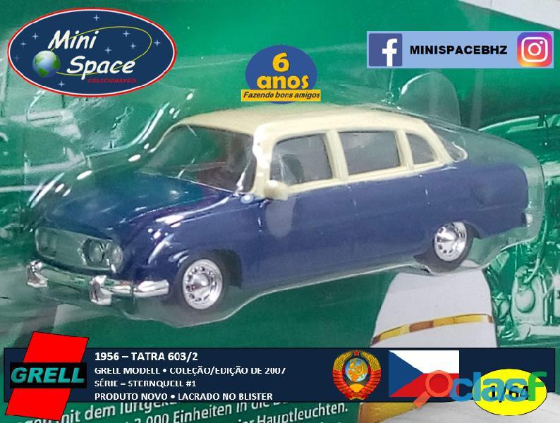 Grell Modell 1956 Tatra 603/2 cor Azul 1/64 3