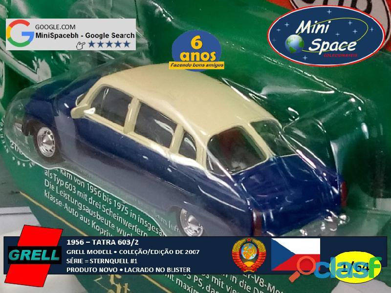 Grell Modell 1956 Tatra 603/2 cor Azul 1/64 6