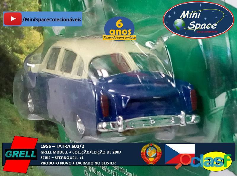 Grell Modell 1956 Tatra 603/2 cor Azul 1/64 7