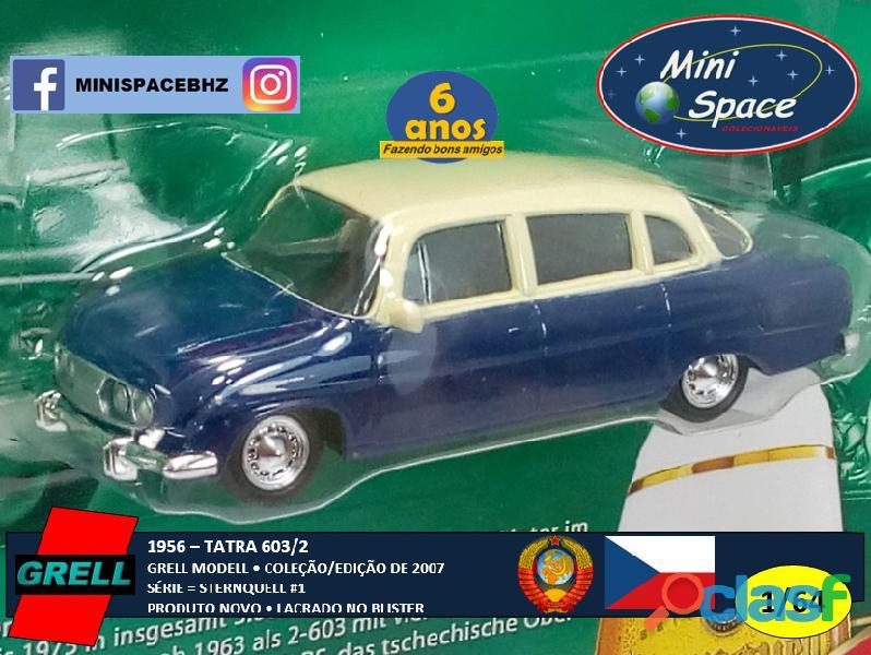 Grell Modell 1956 Tatra 603/2 cor Azul 1/64 8