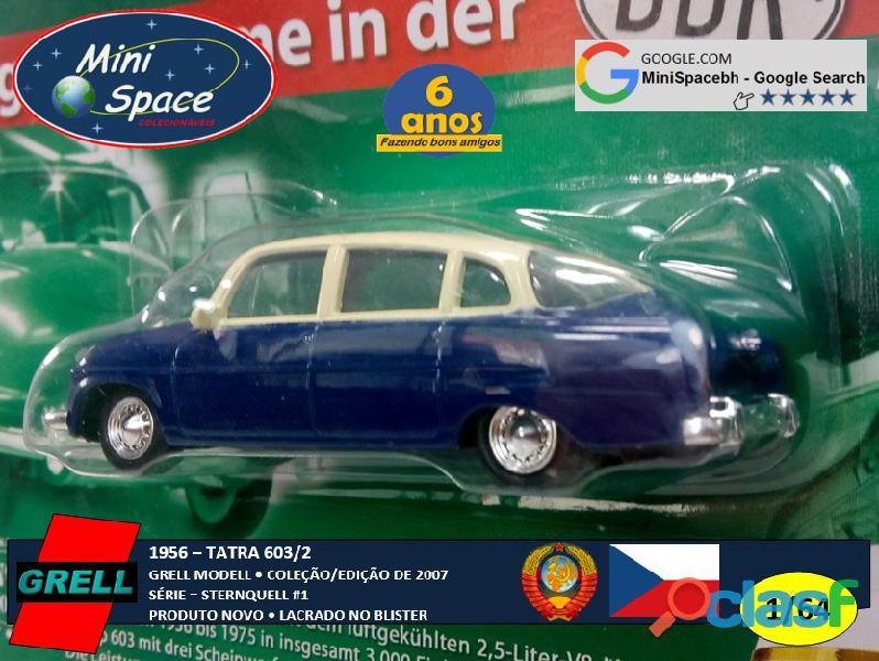 Grell Modell 1956 Tatra 603/2 cor Azul 1/64 9