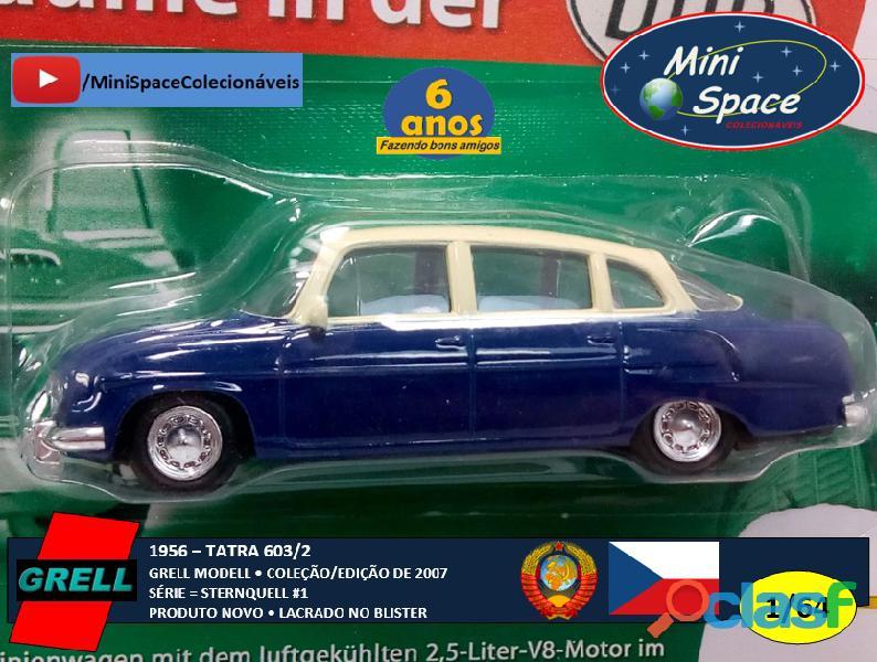 Grell Modell 1956 Tatra 603/2 cor Azul 1/64 10