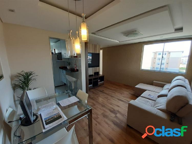 Apartamento mobiliado com 2 quartos em sítio cercado - curitiba - pr