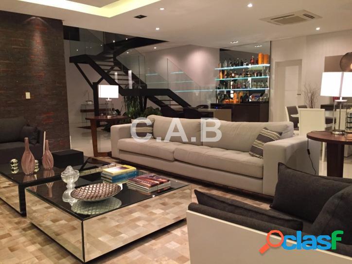 Linda casa mobiliada no residencial 4 em alphaville- 4 suites