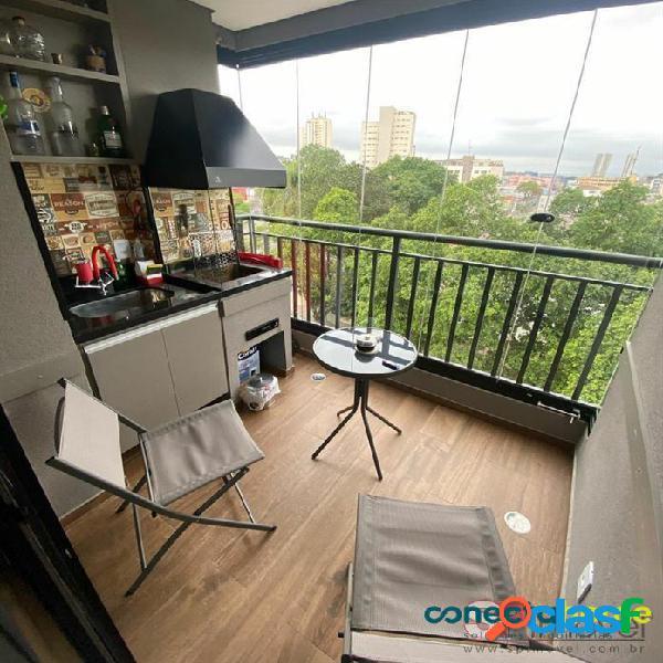 Apartamento de 58 m², 2 dormitórios, sacada gourmet, 1 vaga na Vila Formosa 2