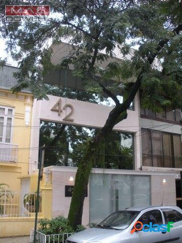 Aluga - prédio comercial 380 m² - humaitá/rj - r$ 45.000,00