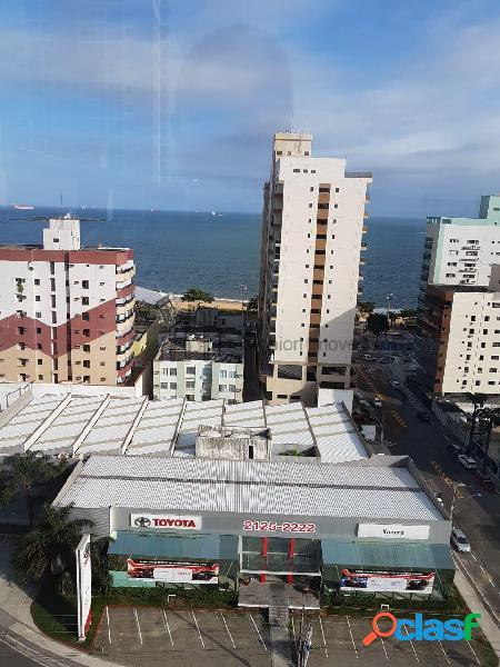Apartamento 2 quartos com suite, 2 vagas garagem, lazer, vista para o mar.