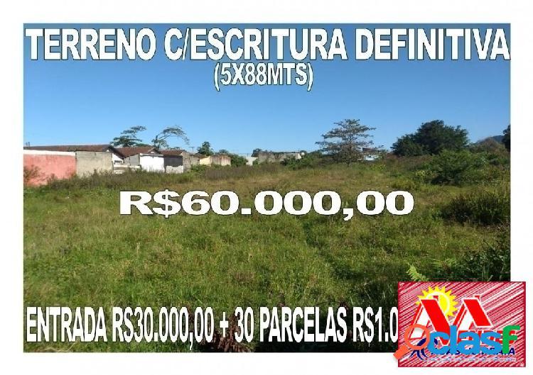 Oportunidade terreno!! entrada r$30.000,00 + parcelas (fixas) na mendes