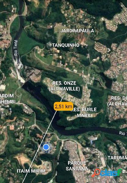 Terreno a venda de 4.460 m² com projeto de casas santana de parnaíba