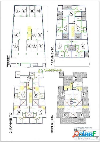 Apartamento sem condomínio 2 dormitórios - 46m² (vila gilda)