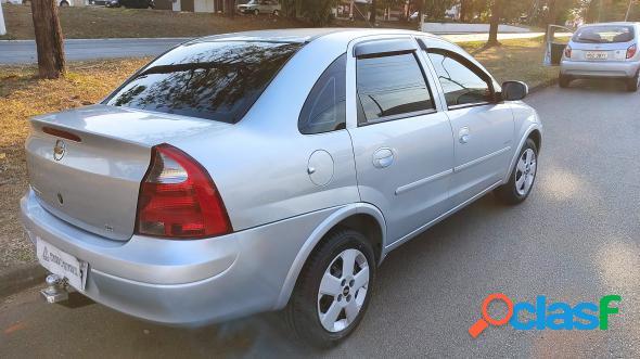 Chevrolet corsa sed. maxx 1.4 8v econoflex 4p prata 2008 1.4 flex