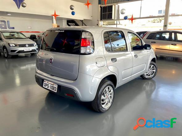 Fiat uno attractive 1.0 fire flex 8v 5p branco 2020 1.0 flex