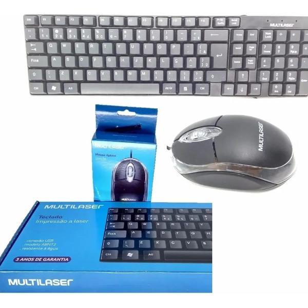 Kit teclado e mouse s/ fio wireless tc212 2.4ghz multilaser