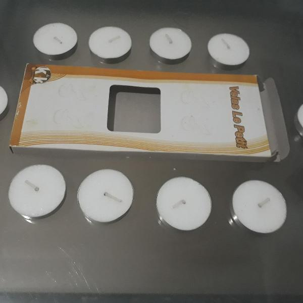 Kit velas - produto novo, com 10 (dez) velas rechaud com