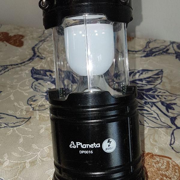 Lanterna portátil carrega com carregador eletrônico/ ou