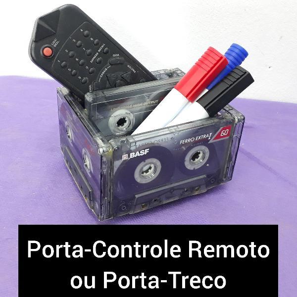 Porta treco porta controle remoto em fitas k7