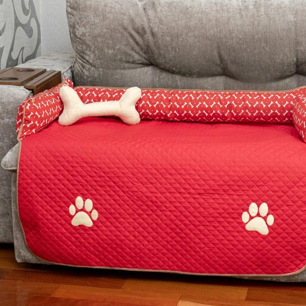Protetor de sofá pet impermeável meg grande para