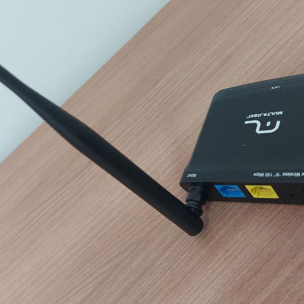 Roteador wireless multilaser n mini 150mbps 2 portas antena