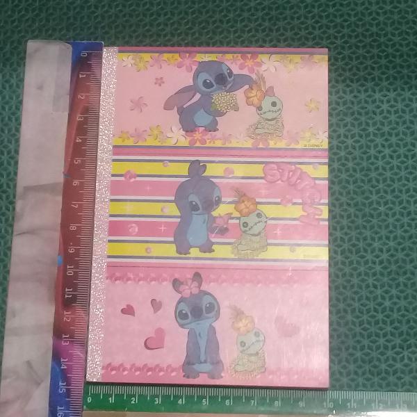 Stitch - bloquinho de notas com 6 estampas diferentes