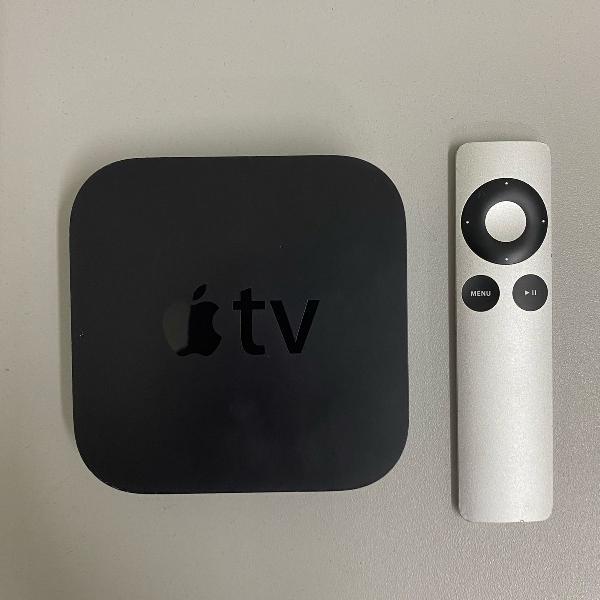 Apple tv com controle remoto semi novo/ usado 3a geração