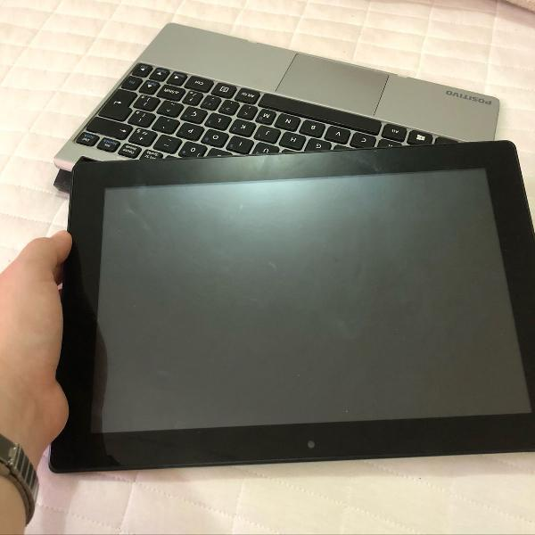 Notebook/tablet positivo 2 em 1, zx3040 - windows 10