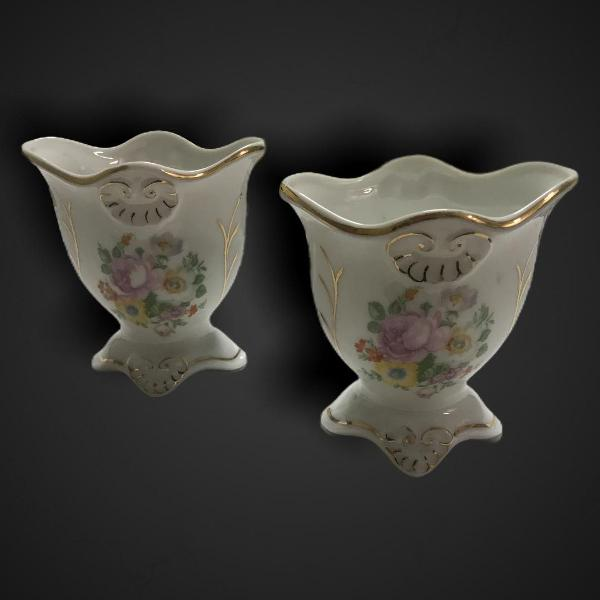 2 molheiras floral porcelana