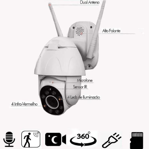 Câmera ip super speed dome , sistema wifi, sem fios .
