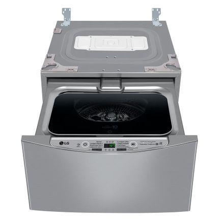 Lavadora de roupas lg 2kg smart twinwash mini 3 motion aço