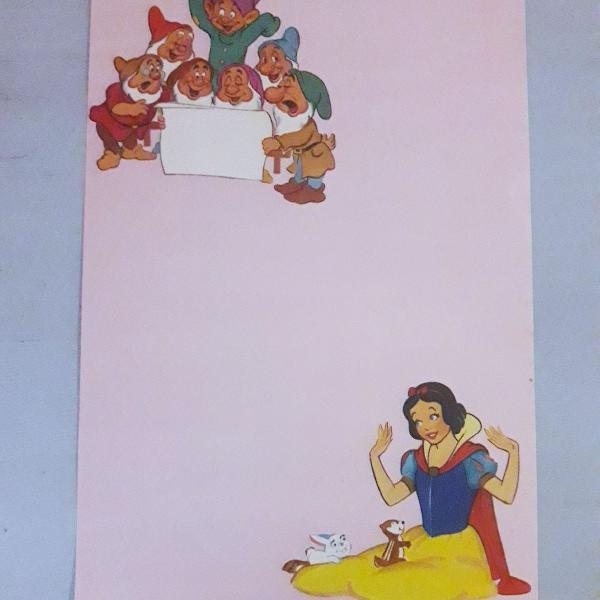Lote papeis de carta disney vintage