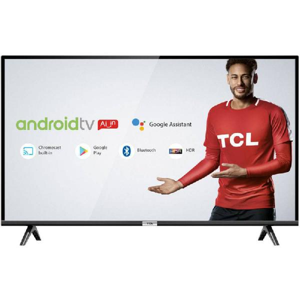 """Smart tv led 40"""" tcl full hd hdr com android tv wi-fi"""