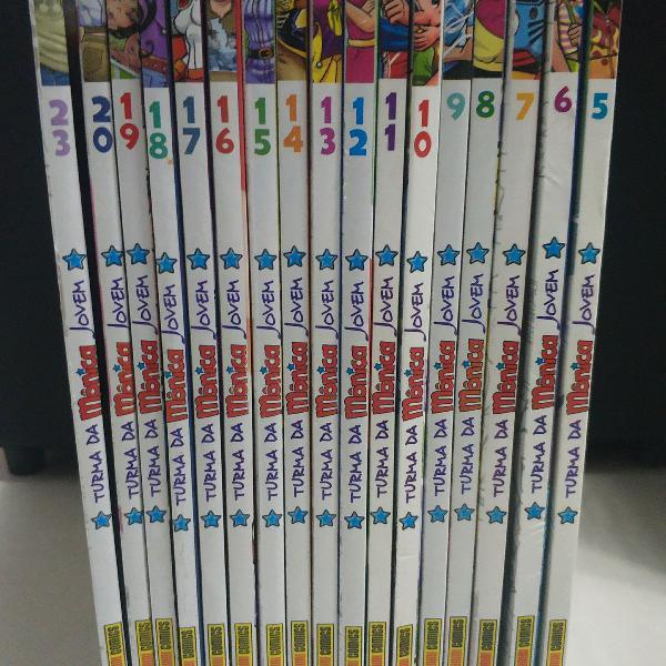 Turma da mônica jovem (17 volumes)