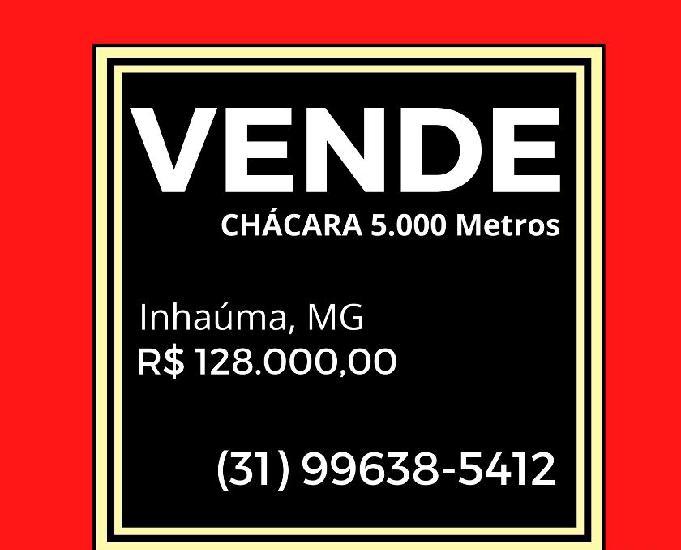 Vende chácara 5.000 metros quadrados, inhaúma, mg