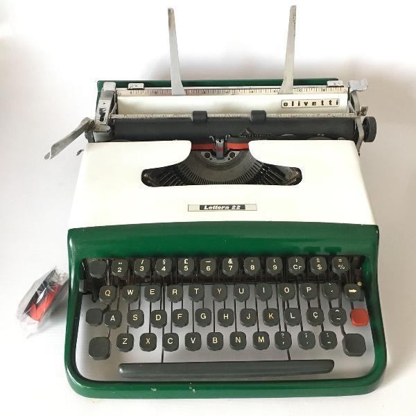 Funcionando _ máquina de escrever datilografia olivetti
