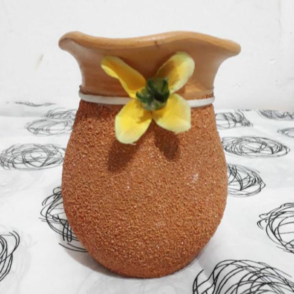 Vaso borroca de textura artesanal bahia