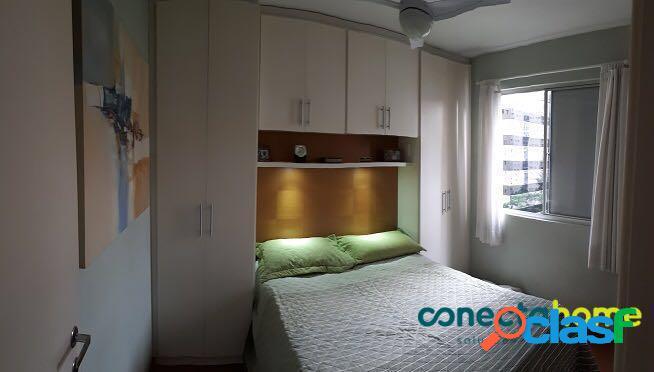 Apartamento mobiliado de 75 m², 3 dormitórios, 1 vaga na vila olímpia