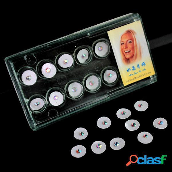 10 peças ornamento de dente diamante cristal dental material decoração temporária joias dentais cuidados para os dentes