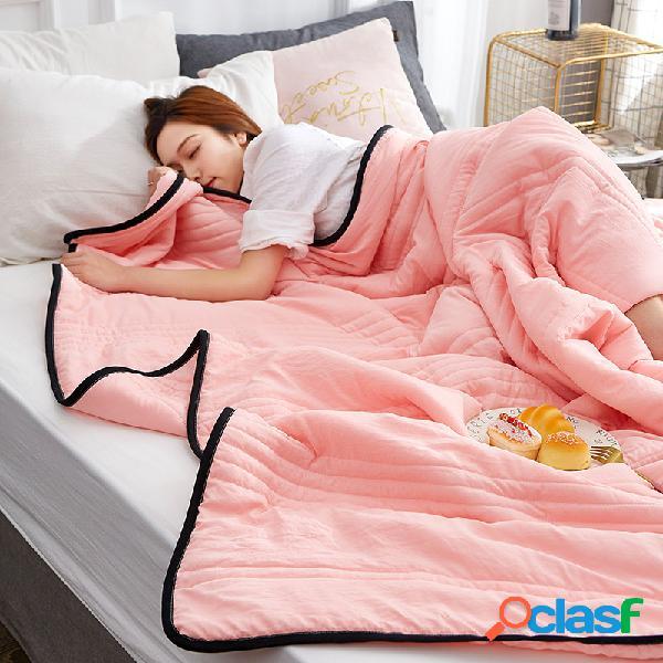 Capa de edredom acolchoada de algodão lavado para resfriamento de verão e cobertor para tv conjunto para cama queen-size