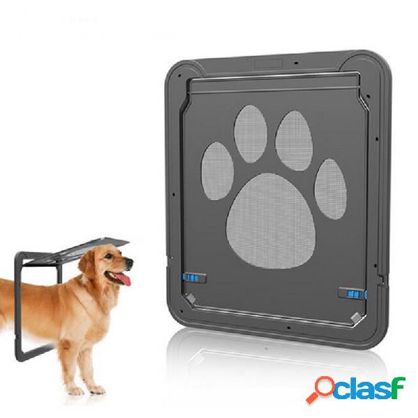Grande médio cachorro cat pet door window abs magnetic auto lock flaps