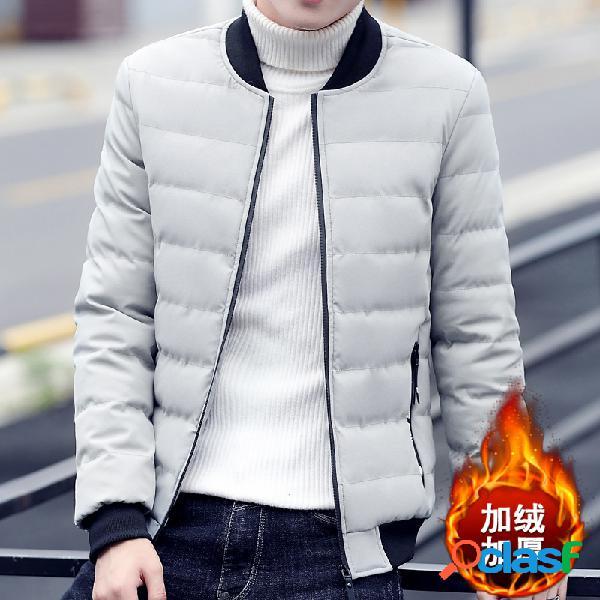 Algodão de algodão grosso para homem youth casacos com capuz de algodão casual