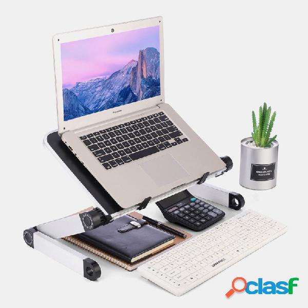 Mesa de escritório de pé ajustável suporte para laptop pode ser ajustado levantando o suporte da placa de base pequena mesa