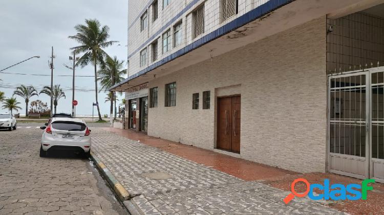 Apartamento prédio frente mar 2 dormitório 170 mil, uma vaga