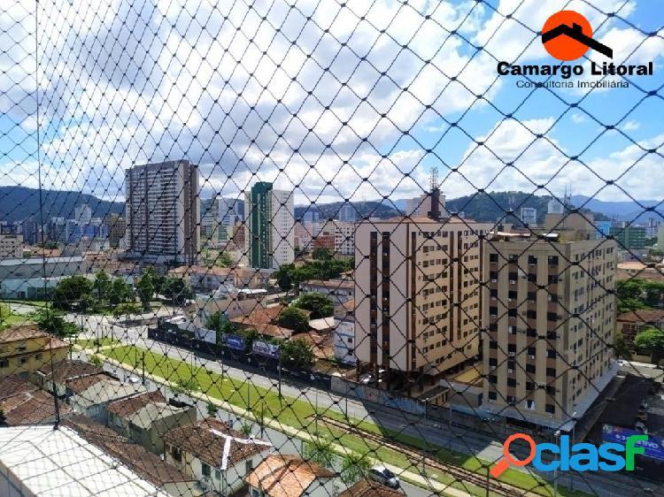 Apartamento Vista Livre no Boqueirão em Santos
