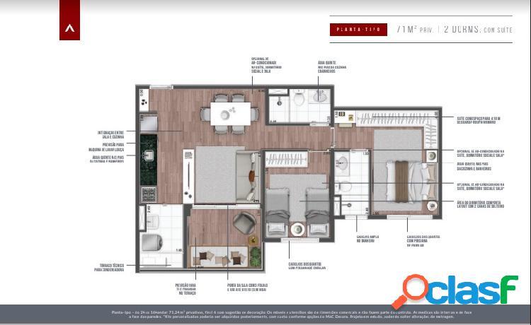 Apartamento Vila Mariana 2 dorms com suíte fácil acesso ao metrô 3