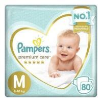 3 unidades fralda pampers premium care m