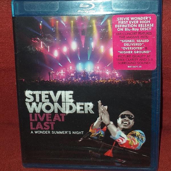 Blu-ray importado novo e lacrado stevie wonder live at last