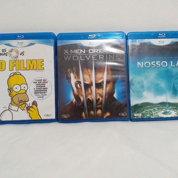 Blu ray kit com 3 filmes
