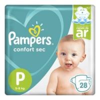 Fralda pampers confort sec p