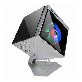 Gabinete gamer azza cube mini 805 lateral de vidro fans rgb