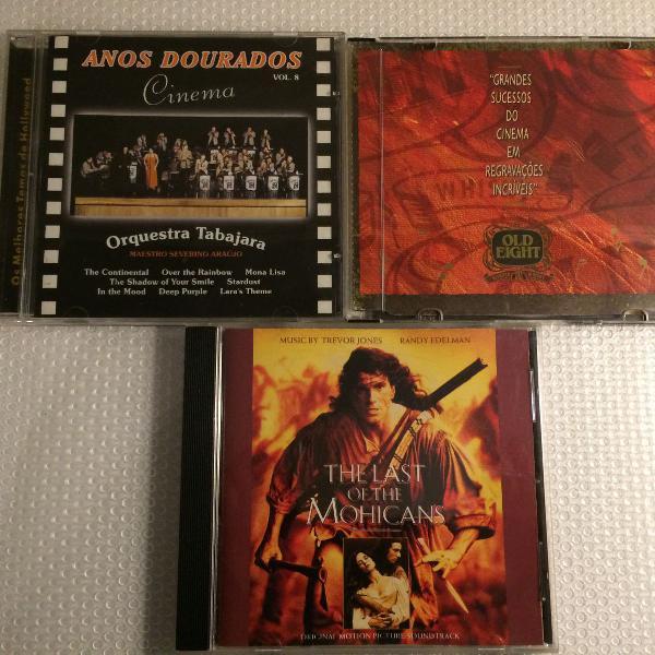 Som na caixa! conjunto de cds trilhas sonoras de filmes - o